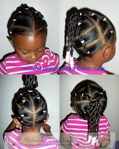 5 Easy Creative Natural Hairstyles - Untrained Hair Mom | Kids ...