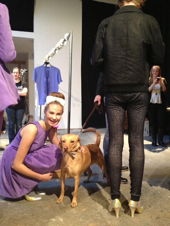 ... Fashion! All of the models wanted to pose for a photo with Cyrus backstage. Vaute  Couture Show, New York Fashion Week. Photo by Justine McCarthy