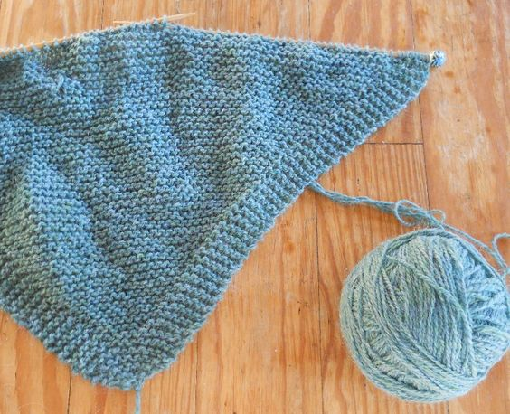 Easy Knitting Ideas Pinterest : Plain and joyful living a simple knit shawl pattern