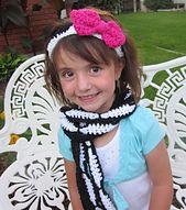 Ravelry: Free Zebra Scarf and Headband pattern by Heidi Yates