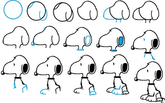 How to draw snoopy awesome drawing for kids for Awesome drawings step by step