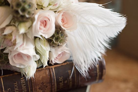 Roses and books... what a perfect combination.