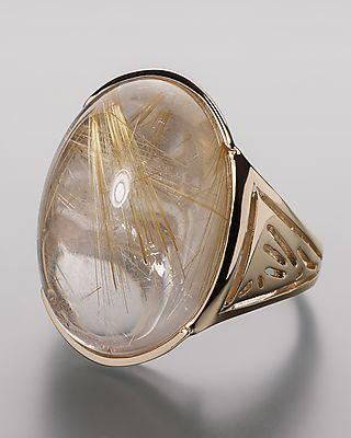 Traumhaft schöner Goldring mit schimmerndem Rutilquarz  #schmuck #jewellery #sognidoro #sogni #doro #ring