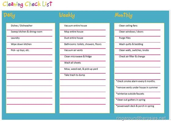 Spring Cleaning Checklist, via Ring Around the Rosies