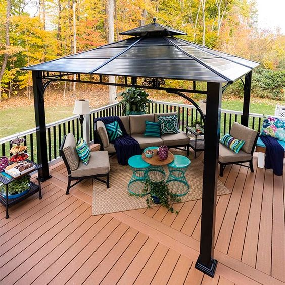 Upgrade Your Deck And Add Finishing Touches Gazebo On Deck Rooftop Design Patio Gazebo