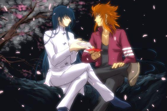 Shiryu & Genbu, os irmãos-discípulo. Créditos: http://www.pixiv.net/member.php?id=159350