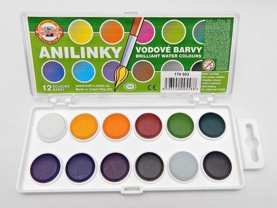 Brilliant Water Colours Koh I Noor 22 5mm Anilinky Paint Set