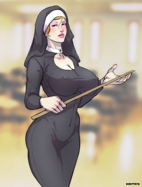 scandalous nun by Dmitrys.deviantart.com on @deviantART