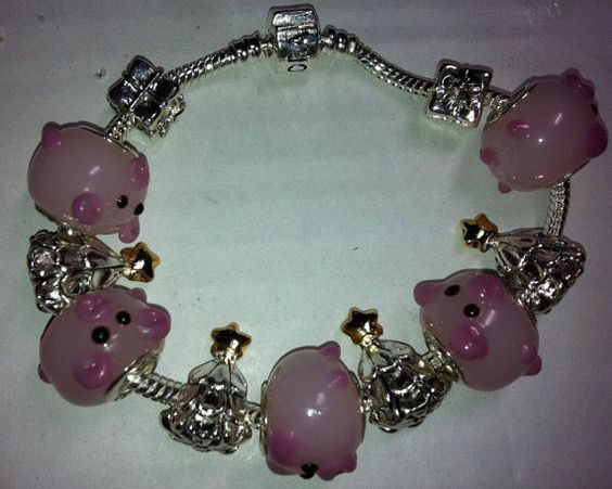 Christmas and Pigs Cute pink pigs silver Christmas by InHogHeaven