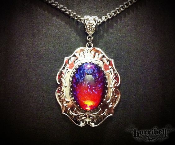 Dragon S Breath Glass Fire Opal Necklace Mexican Fire