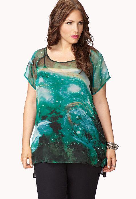 Plus galaxy dress forever   Fashion dresses lab