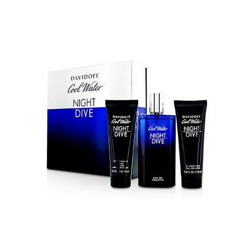Cool Water Night Dive Coffret: Eau De Toilette Spray 125ml/4.2oz + After Shave Balm 75ml/2.5oz + Shower Gel 75ml/2.5oz 3pcs