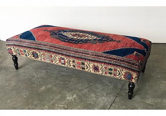 Vintage Rug Ottoman 50018 G Hammertowm 2900 With Images