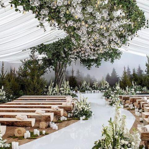 54 Beautiful Garden Wedding Design Ideas And Decor Ideaboz Outdoor Fall Wedding Outdoor Wedding Courtyard Wedding