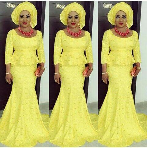 20 Latest and Most Recent Asoebi In Lace Style. >>> Happy weekend fashionistas, so today is all about the latest and most recent asoebi styles you can ever think of and we've got 20 of it for your eyes only.: