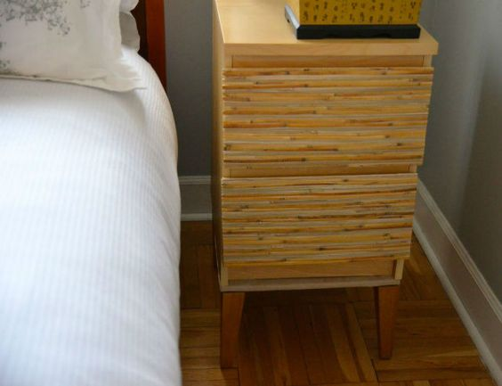 Adding legs to an ikea malm nightstand use plywood mdf Ikea furniture makeover