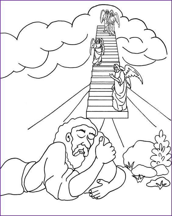 Genesis 28:15 coloring page | Sunday School Pictures | Pinterest ...