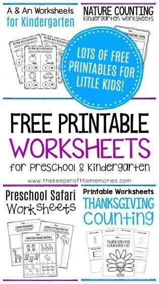 Free Printable Worksheets For Preschool Kindergarten Preschool
