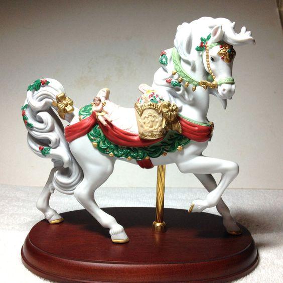 1994 LENOX ANNUAL CHRISTMAS CAROUSEL HORSE LIMITED EDITION