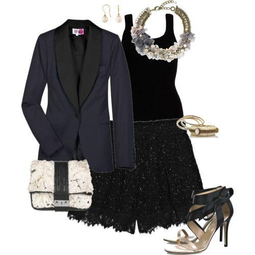 Tuxedo + a little sparkle? I think yes!