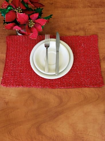 Free Crochet Patterns For Christmas Placemats : Placemat Yarn Free Knitting Patterns Crochet ...