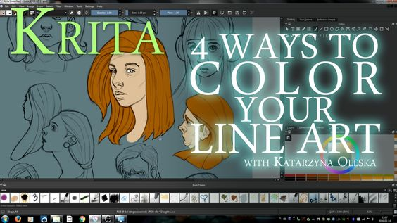 Here are 4 ways to color your line art with Krita. Option 1 0:58 (coloring with a brush) Option 2 8:32 (using masks) Option 3 12:27 (using shape_fill brush) ...