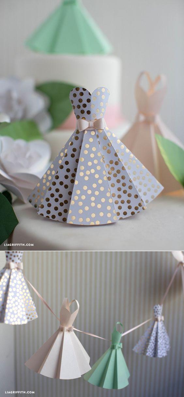 #diywedding #weddingdecor #paperdress www.LiaGriffith.com::