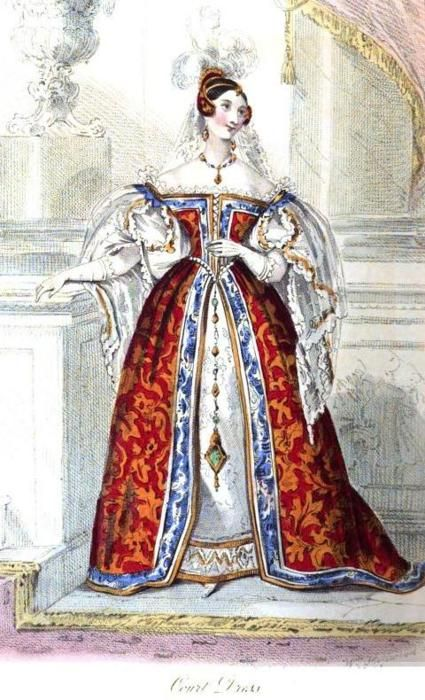 Court Dress, June 1834: