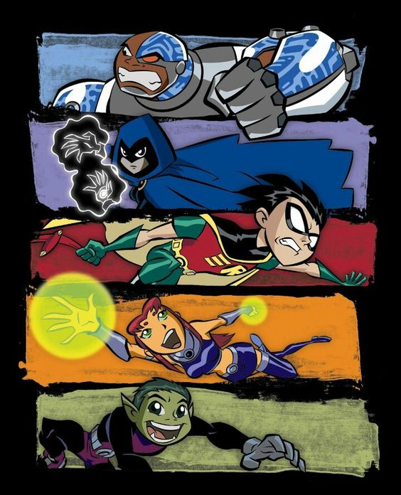 Teen Titans! (2003 - 2007) I discovered this tv show at Sue and Martyn's house in Ireland. Both Billy and I would try and ask if we could go round their house as they had a tv. We didn't as we were in Rosroe.