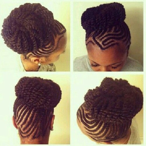 Natural Hairstyle.luv the twisted bun | hair, makeup and ...