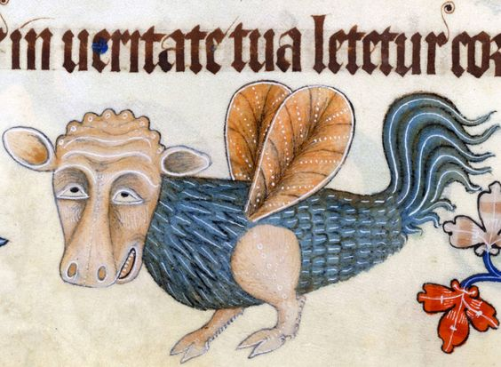 medieval genetic engineering Luttrell Psalter, England ca. 1325-1340 (British Library, Add 42130, fol. 155v):