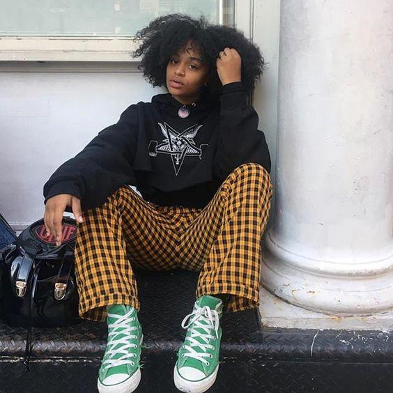 UNIF | Winx Pant - Black/Yellow Plaid