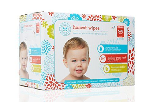 The Honest Company Baby Wipes Fragrance Free Classic 576count