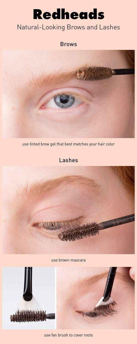 Blonde Eyelashes And Eyebrows