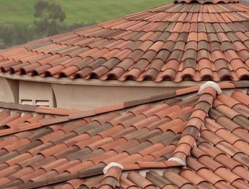 Perfect Spanish Tile Roof We Make Your Roofs More Attractive With Spanish Tiles.  These Are Tuff And Give Your Roof A Look That Is Appealing.