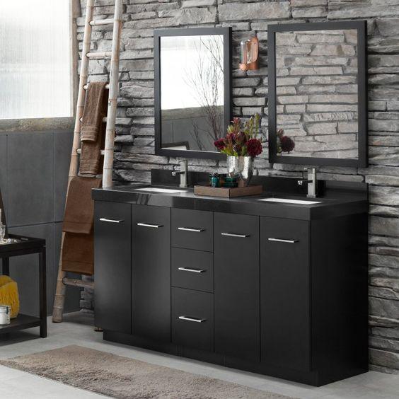 Ronbow 091024-B02 Arden 60 in. Double Bathroom Vanity Set