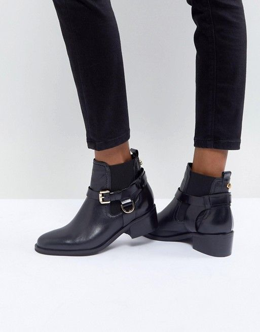 botines negros tobilleros