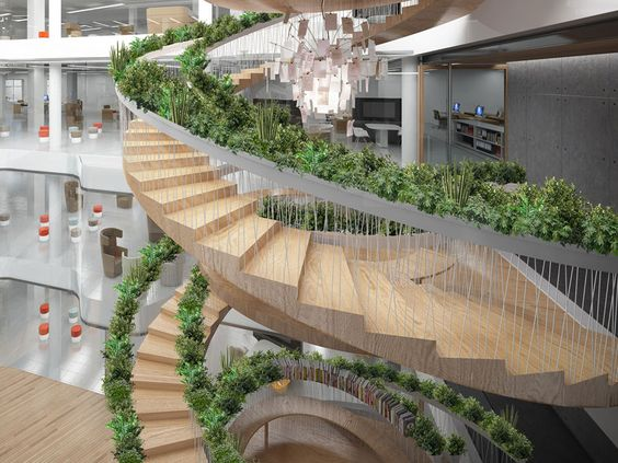 the living staircase by paul cocksedge functions as a garden