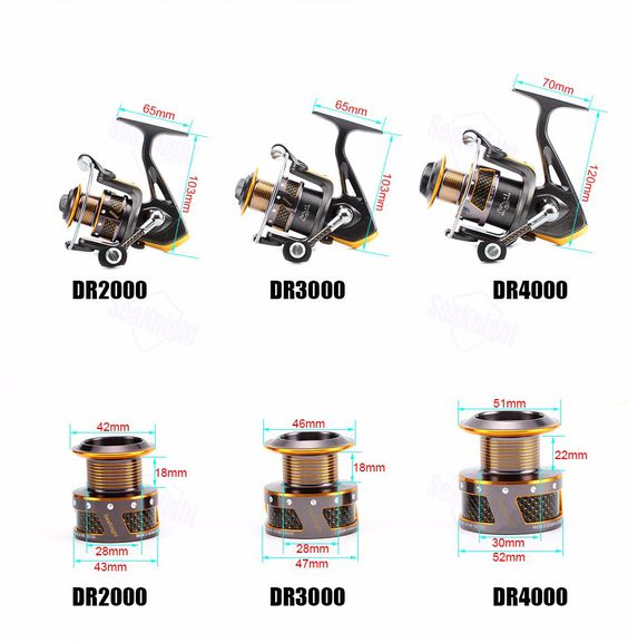 Front Drag Spinning Fishing Reel (3 Sizes To Choose From) FREE SHIPPING!