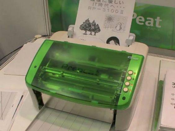 A impressora sustentável pode imprimir um mesmo papel em até 1000 vezes de uso. E tudo isso sem gastar uma gota de tinta.
