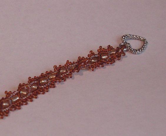 Topaz Russian Snake Beaded Bracelet by CharlesWebSales on Etsy, $19.99