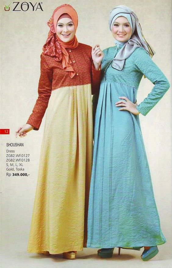 Koleksi Busana Muslim Zoya Dress Terfavorit Model Busana
