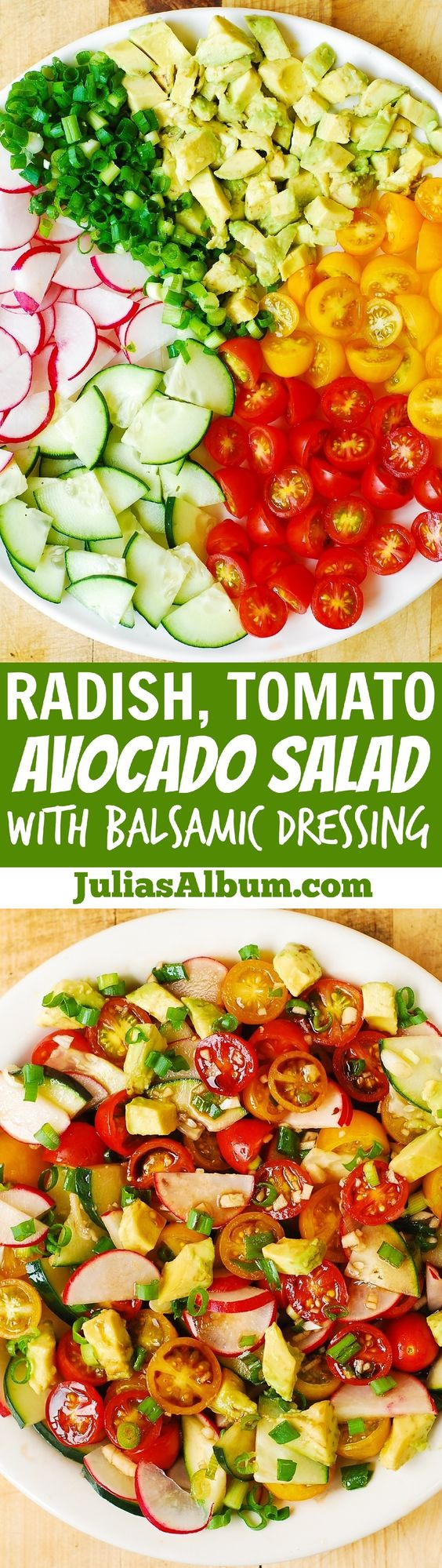 Radish Tomato Avocado Salad with Balsamic Dressing | Recipe | Avocado ...