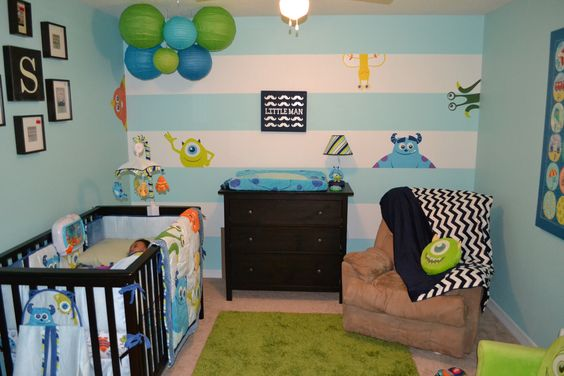 My own son's room. Monsters Inc. I absolutely love how it ...