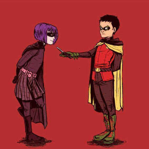 Hit Girl and Damian