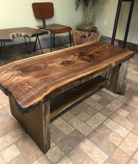 Big Beautiful Black Walnut Slab Coffee Table Woodworking Furniture Plans Wood Table Design Coffee Table