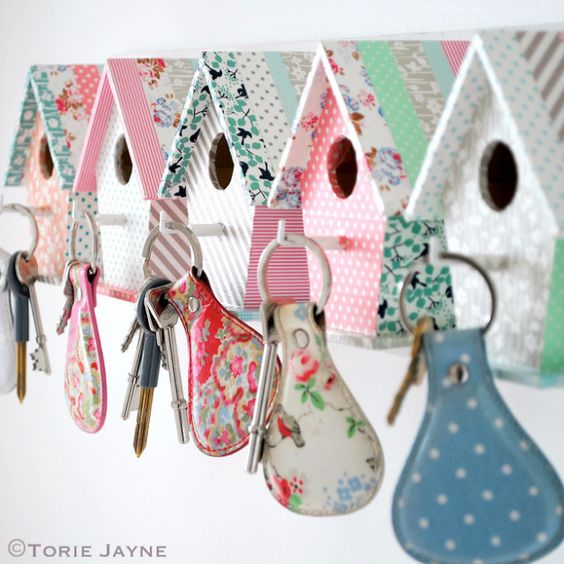 Cheap Crafts To Make and Sell - Bird House Key Hooks - Inexpensive Ideas for DIY Craft Projects You Can Make and Sell On Etsy, at Craft Fairs, Online and in Stores. Quick and Cheap DIY Ideas that Adults and Even Teens Can Make on A Budget http://diyjoy.com/cheap-crafts-to-make-and-sell