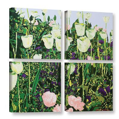 Alcott Hill Tulip Delight 4 Piece Painting Print on Wrapped Canvas Set Size:
