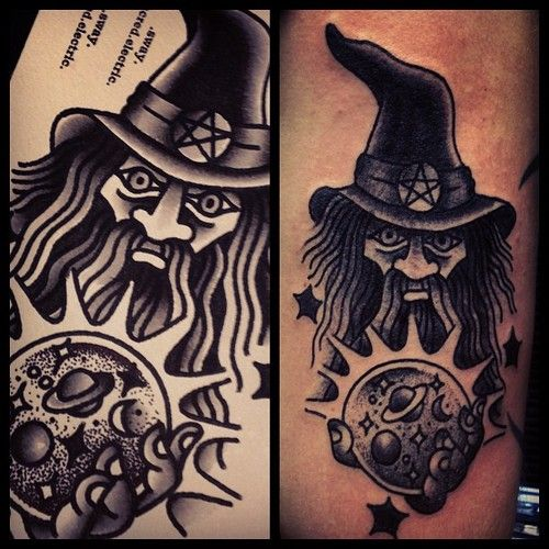 Pinterest the world s catalog of ideas for Ink wizard tattoo