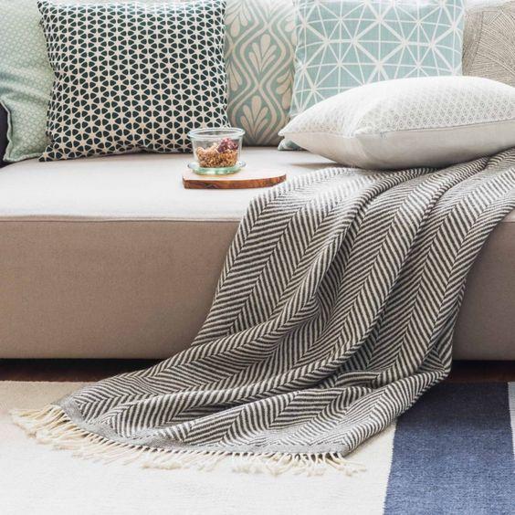 wolldecke salla creme grau decor pinterest. Black Bedroom Furniture Sets. Home Design Ideas